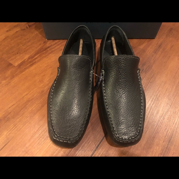 6c42f6abd9e Joseph Abboud Black Leather Yacht Loafer